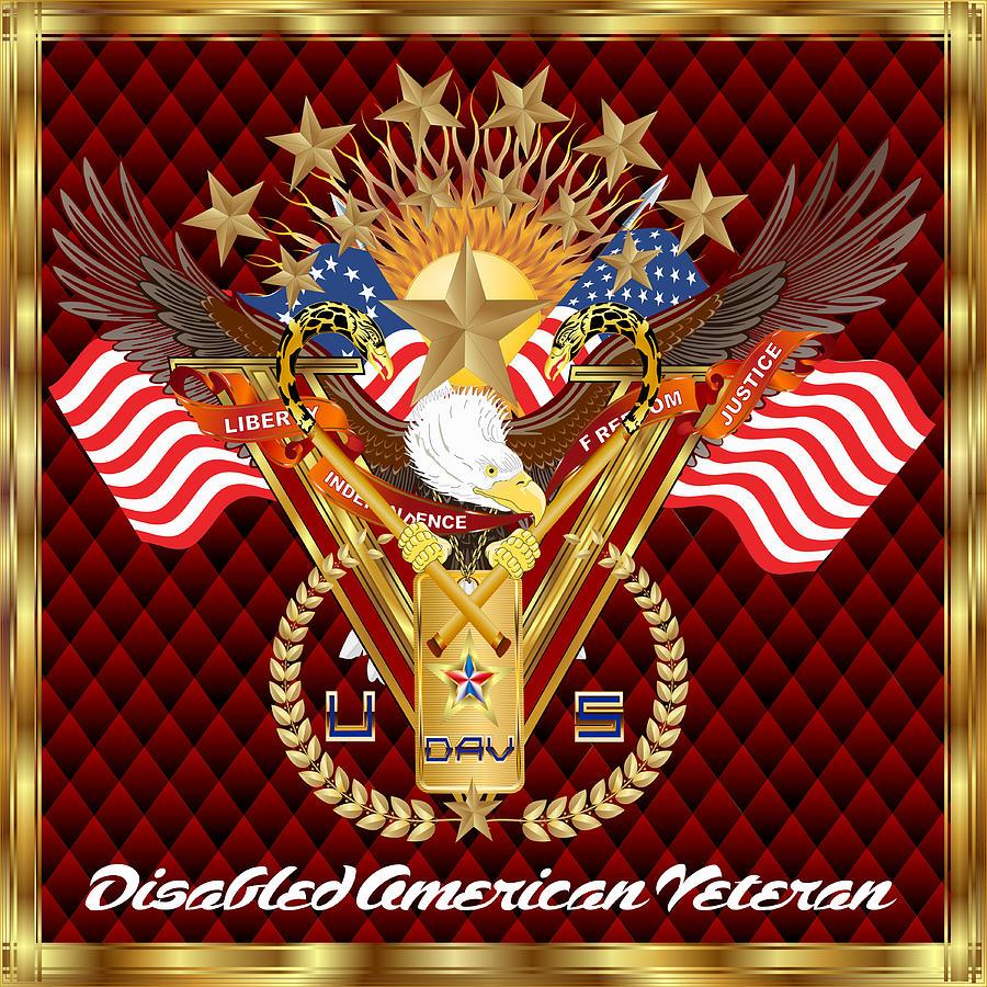 Tribute-disabled-american-veteran-v-4 Digital Art
