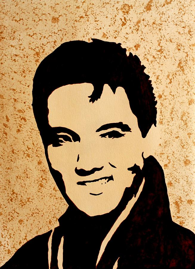 Tribute To Elvis Presley Painting