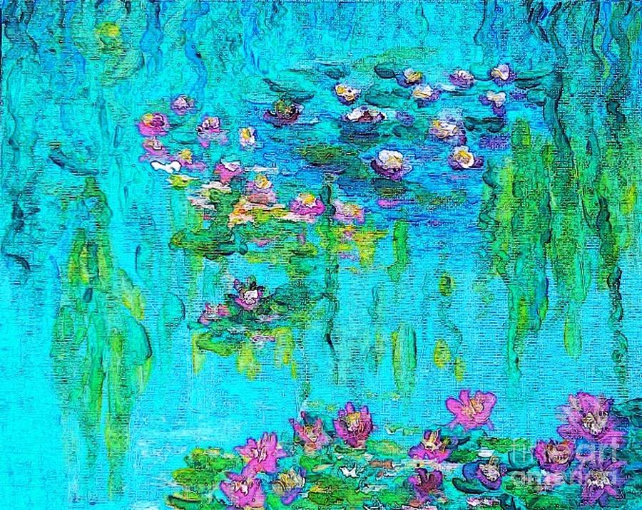 Tribute To Monet Painting  - Tribute To Monet Fine Art Print