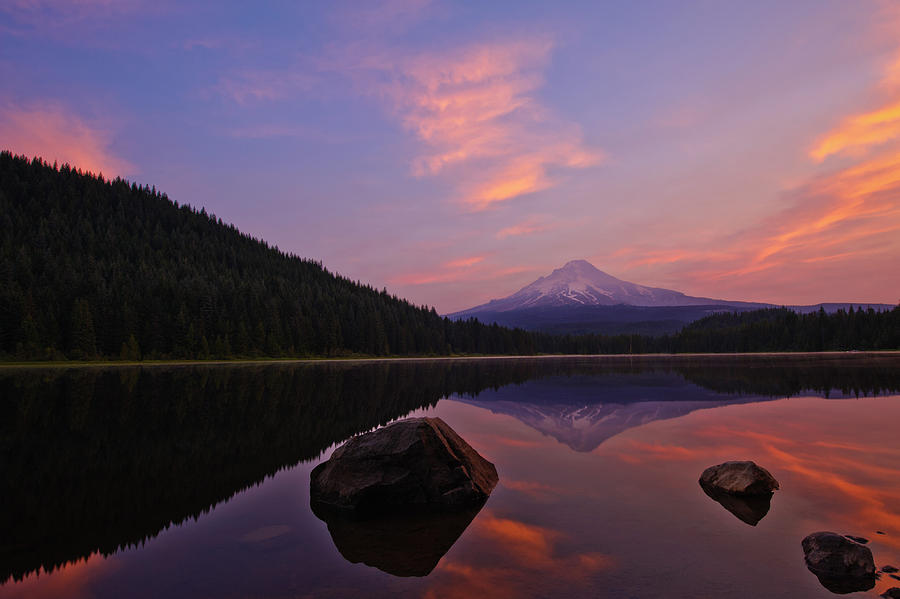 Trillium Lake Sunrise Photograph  - Trillium Lake Sunrise Fine Art Print
