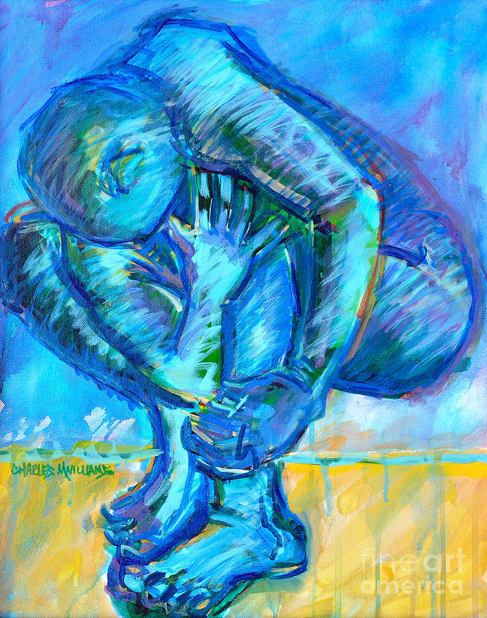 Struggles Painting - Trilogy - N My Soul 1 by Charles M Williams