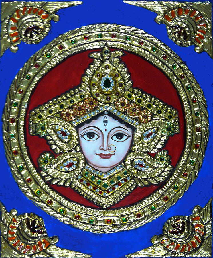 trinetra Durgaji Painting