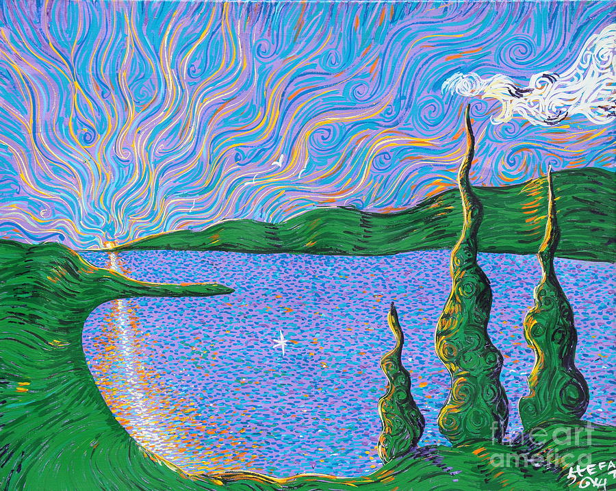 Trinity Lake Series Painting  - Trinity Lake Series Fine Art Print