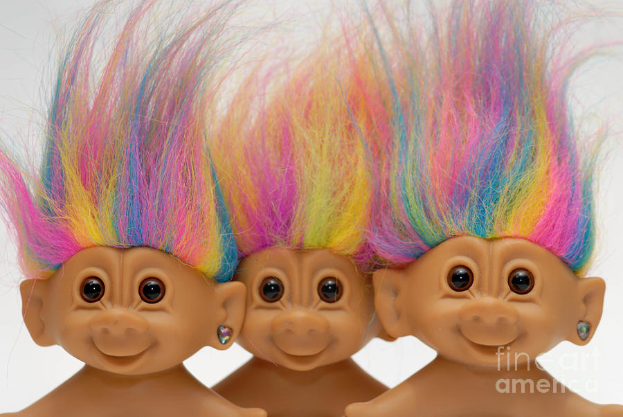Trio Of Troll Dolls Photograph