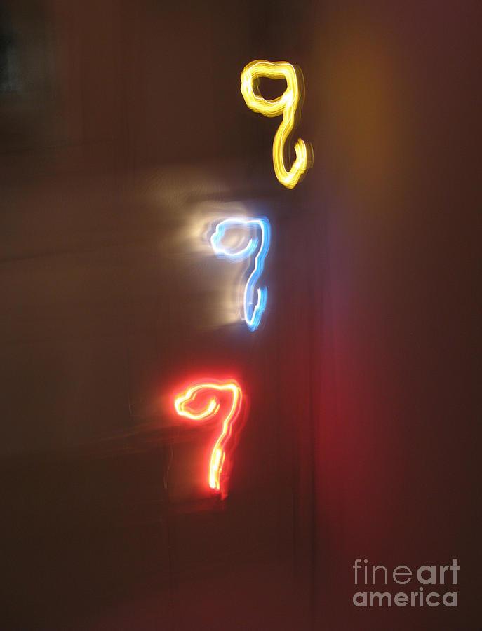 Dancing Lights Series Photograph - Triple Q. Dancing Lights Series by Ausra Huntington nee Paulauskaite