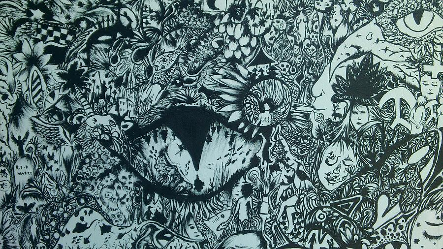 Trippy Word Of Doodle S Drawing By Nafros Art
