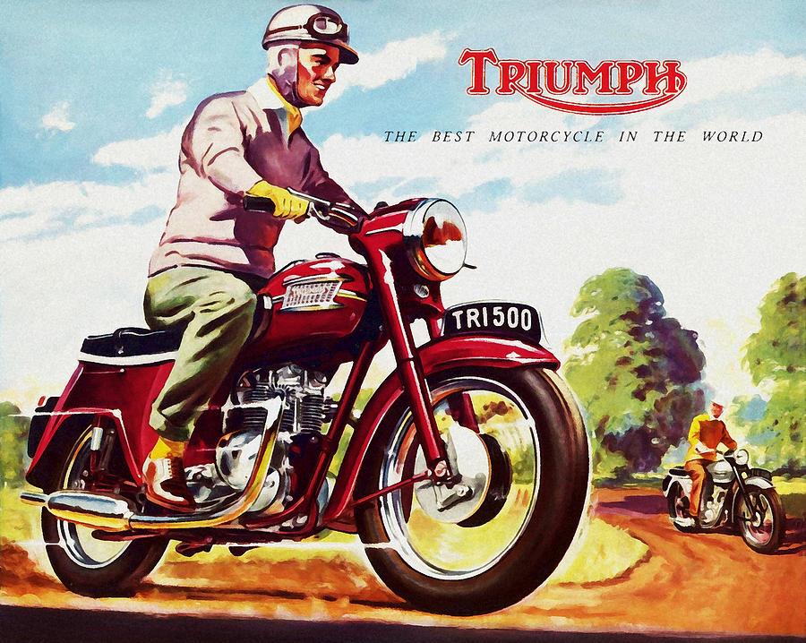 Triumph 1958 Photograph By Mark Rogan