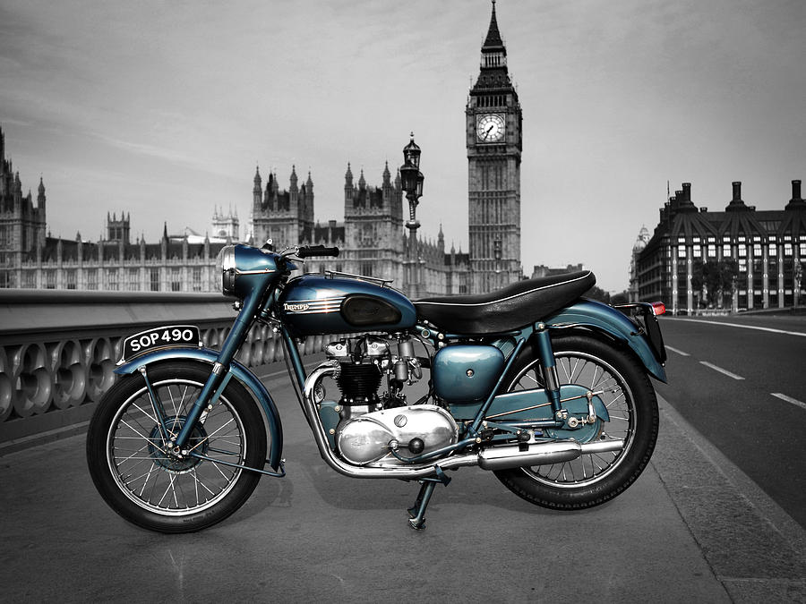 Triumph Thunderbird 1955 Photograph