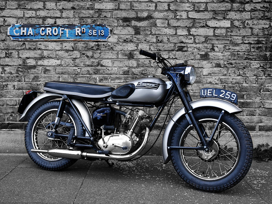 Triumph Photograph - Triumph Tiger Cub by Mark Rogan