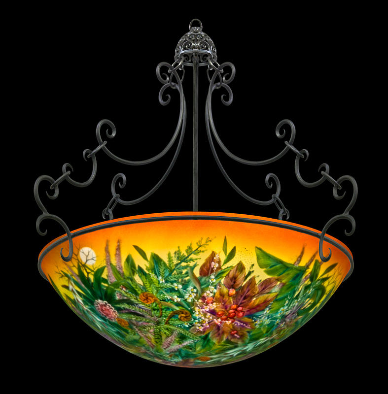 Mo_chandeliers -2008 Glass Art - Trocial Sunset  by Mikael  Darni