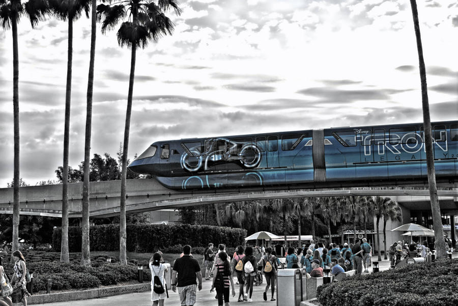 Tron Monorail Wdw In Sc Photograph