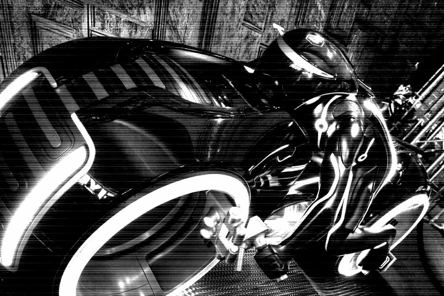 Tron Motor Cycle Photograph  - Tron Motor Cycle Fine Art Print