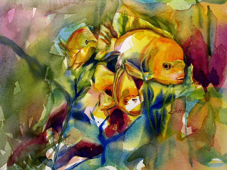 Tropical Fish 2 Painting By Julianne Felton