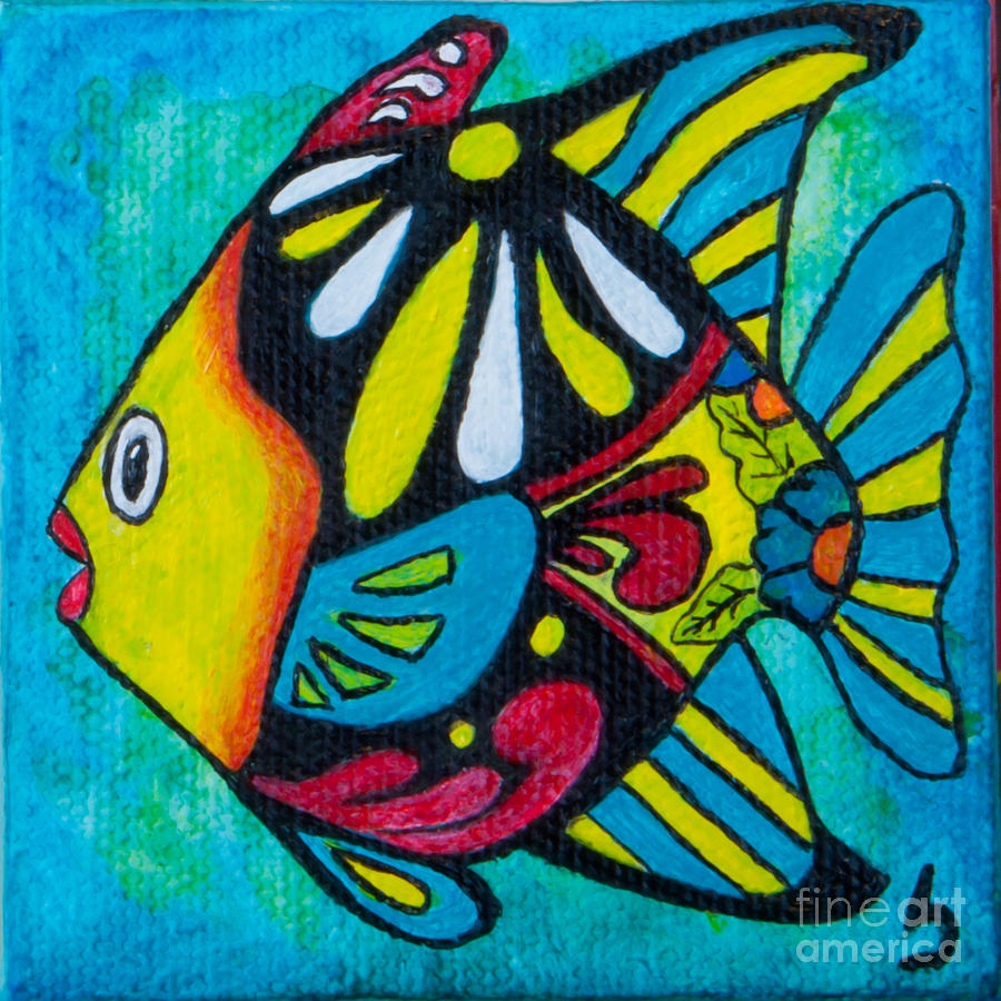 tropical fish paintings tropical fish colors by marcia