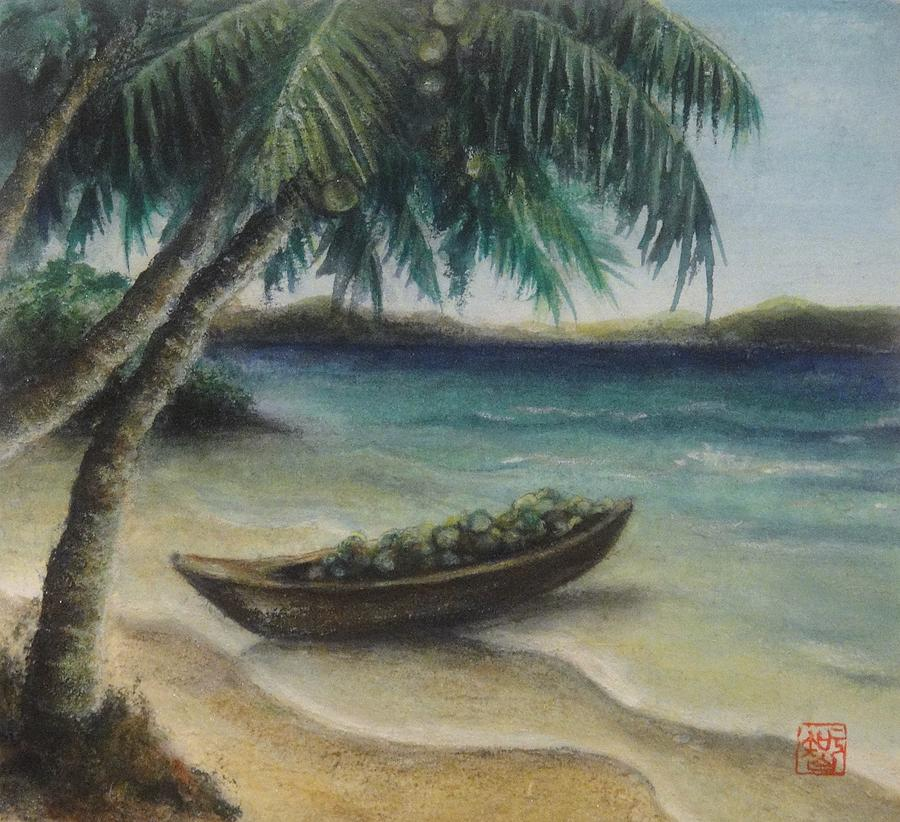 Tropical Island Painting  - Tropical Island Fine Art Print