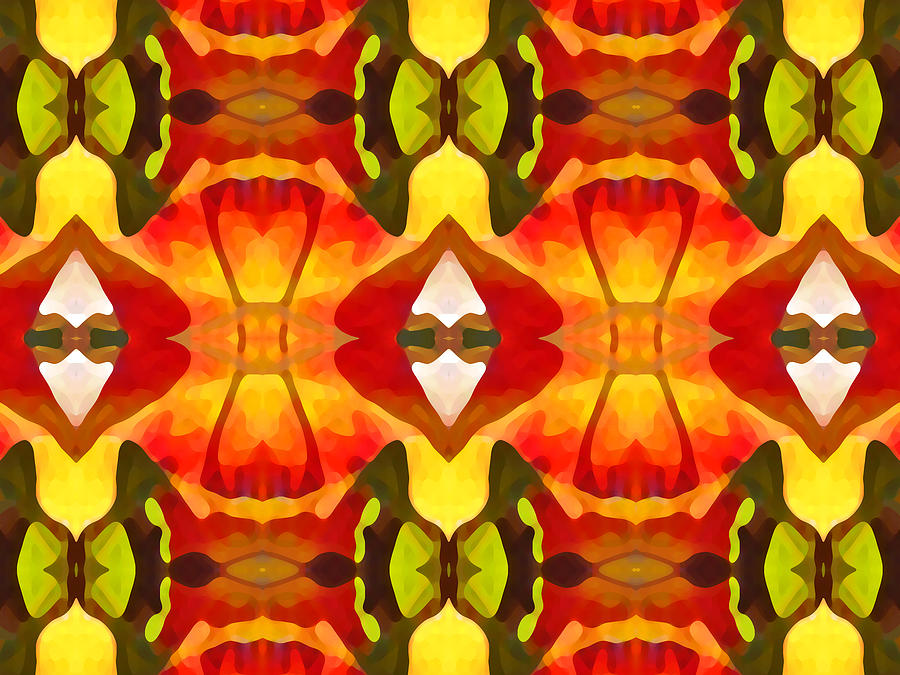 Abstract Painting - Tropical Leaf Pattern  12 by Amy Vangsgard