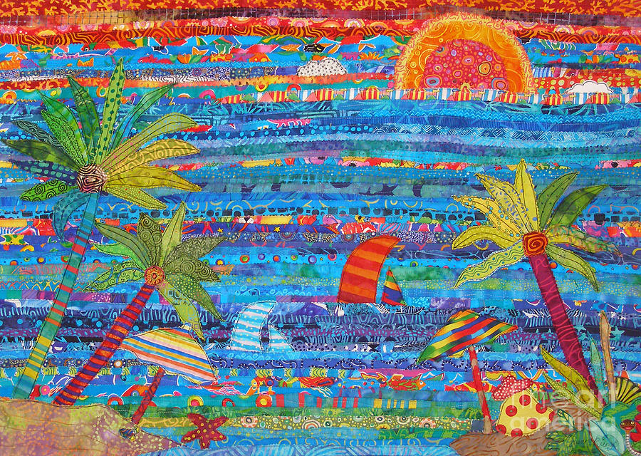 Tropical Moments Painting by Susan Rienzo