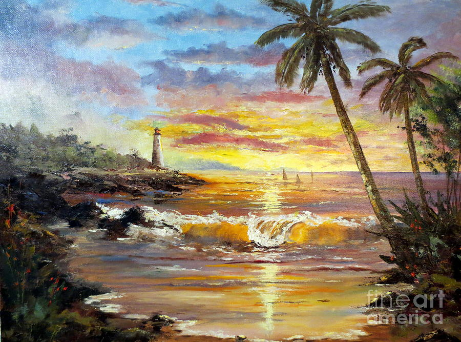 Tropical Sunset Painting  - Tropical Sunset Fine Art Print