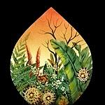 Sunrise Glass Art - Tropical Surise by Mikael  Darni