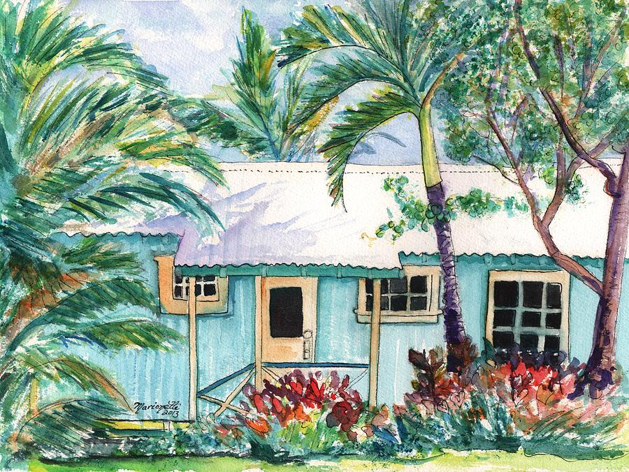 Tropical Vacation Cottage Painting By Marionette Taboniar