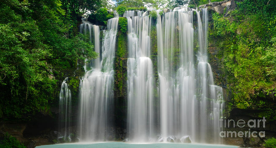 Tropical Waterfall Photograph
