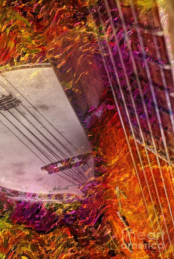 Truly Southern Digital Banjo And Guitar Art By Steven Langston Photograph  - Truly Southern Digital Banjo And Guitar Art By Steven Langston Fine Art Print