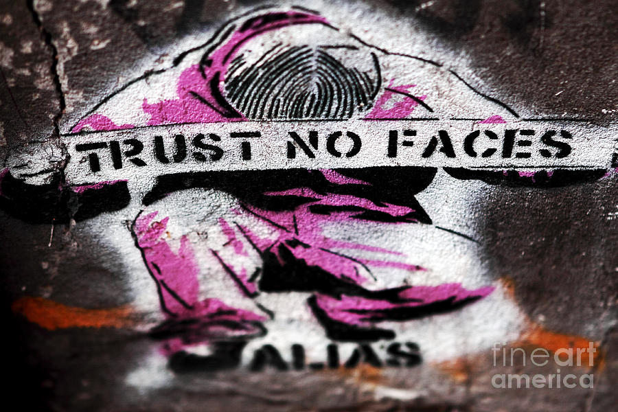 Trust No Faces Photograph - Trust No Faces by John Rizzuto