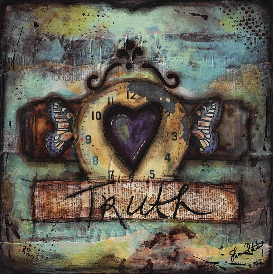 Truth Mixed Media  - Truth Fine Art Print