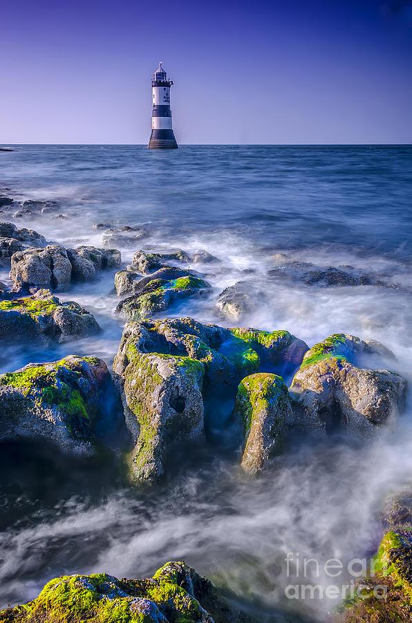 Lighthouse Photograph - Trwyn Du Lighthouse by Darren Wilkes
