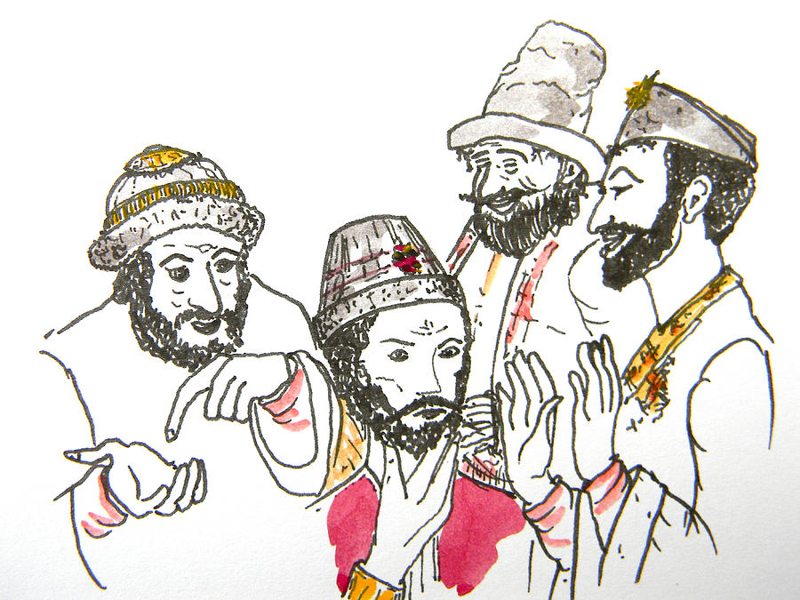 Tsar And Courtiers Drawing