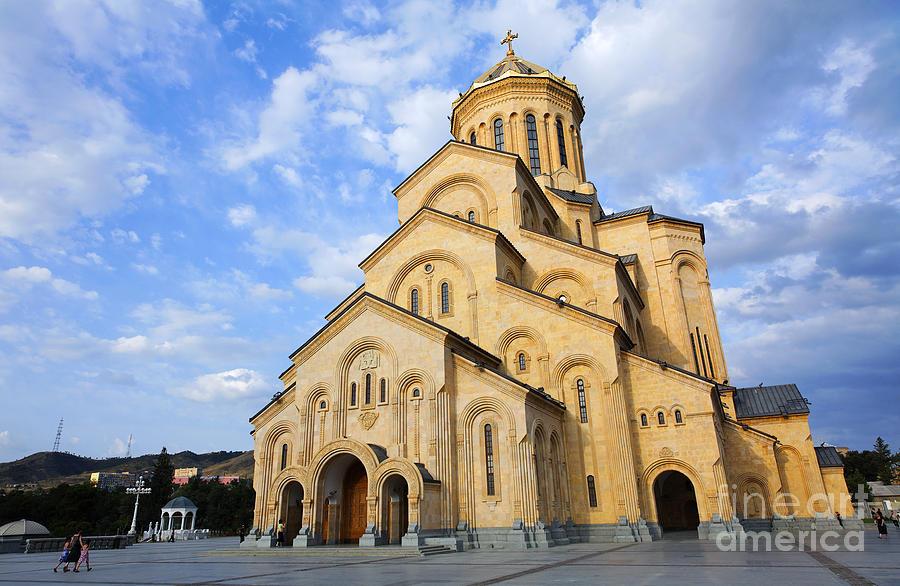 Tbilisi Photograph - Tsminda Sameba Cathedral Tbilisi Georgia by Robert Preston