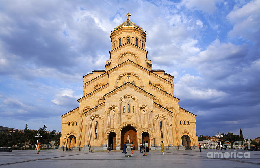 Tbilisi Photograph - Tsminda Sameba Cathedral Tbilisi by Robert Preston