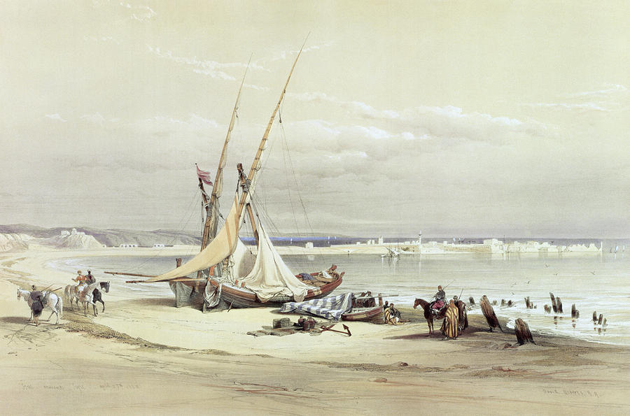 Sour Drawing - Tsur, Ancient Tyre, April 27th 1839 by David Roberts