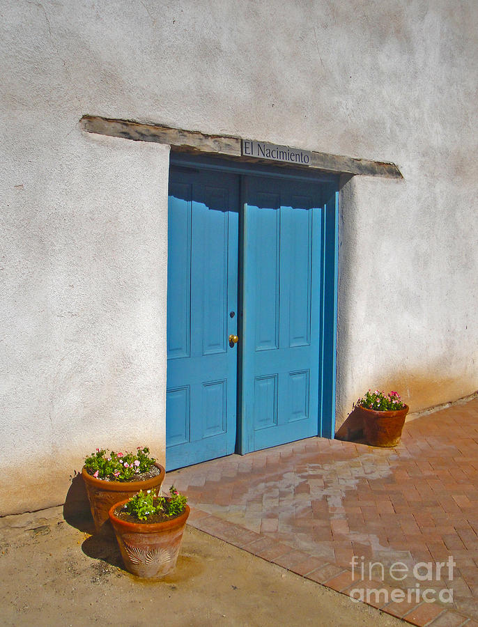 Tucson Arizona Blue Door Photograph  - Tucson Arizona Blue Door Fine Art Print