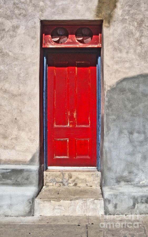 Tucson Arizona Red Door Photograph  - Tucson Arizona Red Door Fine Art Print