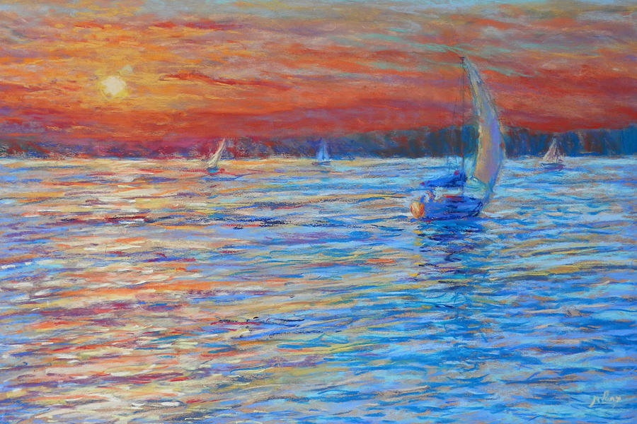 Pastel Painting - Tuesdays End by Michael Camp
