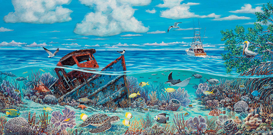 Tug Boat Reef Painting