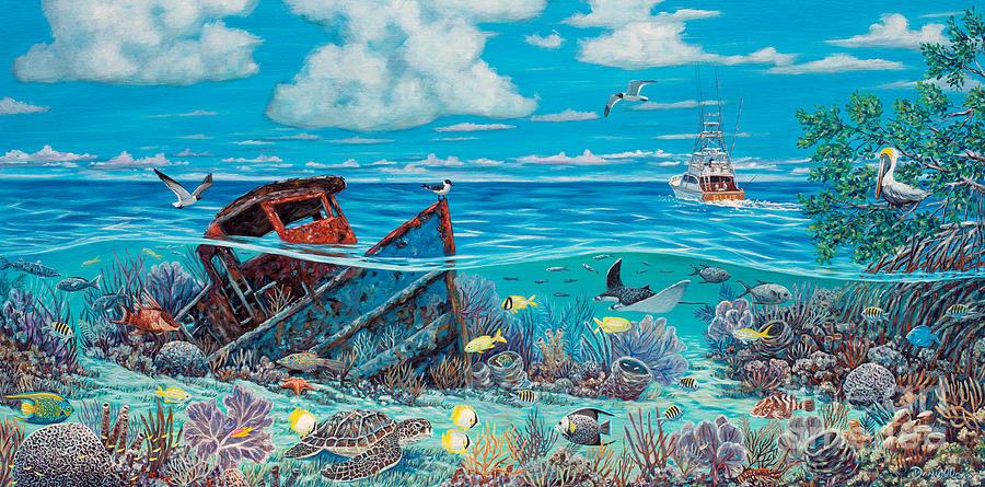 Tug Boat Reef Painting