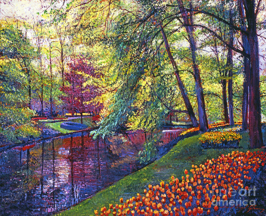 Landscape Painting - Tulip Park by David Lloyd Glover