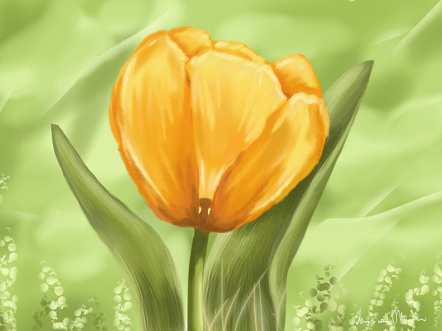 Digital Painting - Tulip by Veronica Minozzi