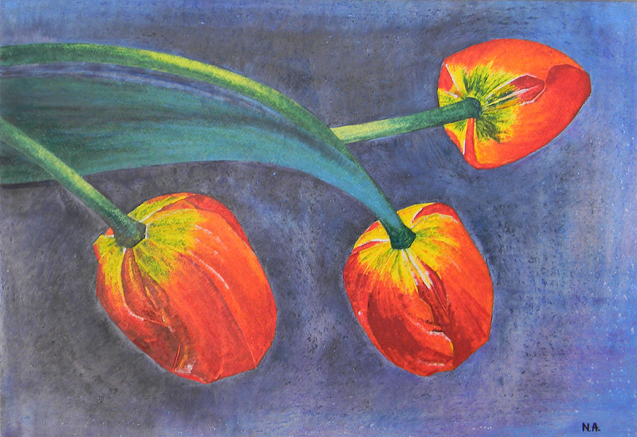 Tulip Painting - Tulips by Adel Nemeth