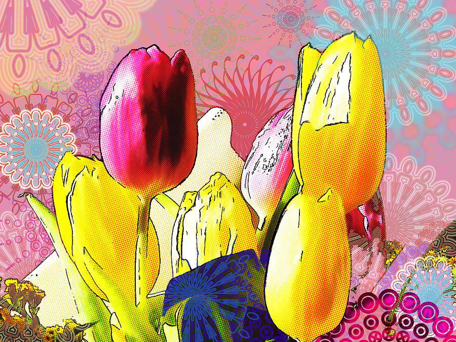 Tulips Digital Art