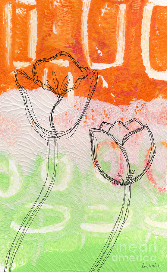 Tulips Mixed Media