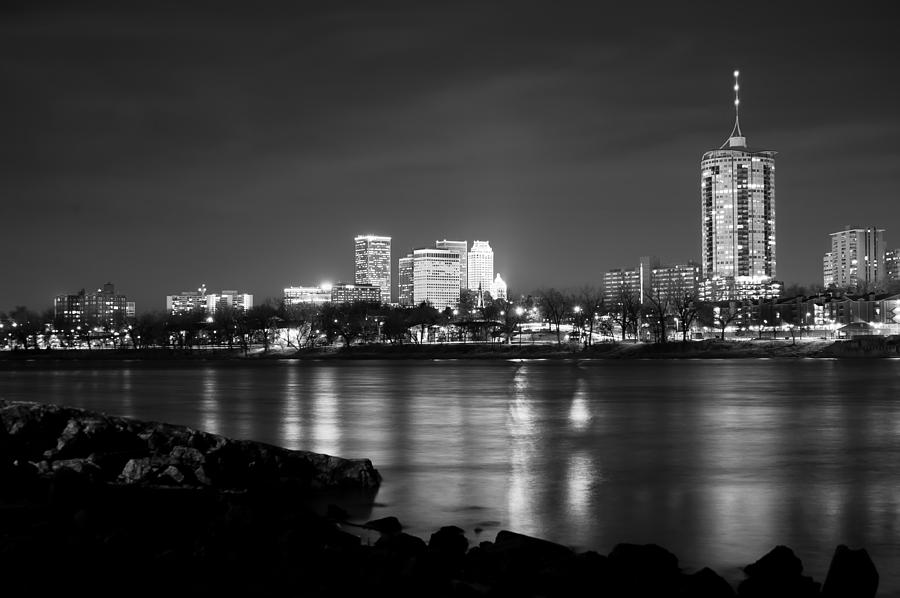 Tulsa In Black And White - University Tower View Photograph