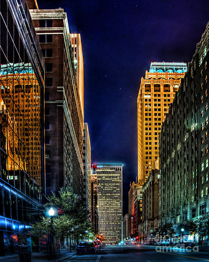 Tulsa Nightlife Photograph  - Tulsa Nightlife Fine Art Print