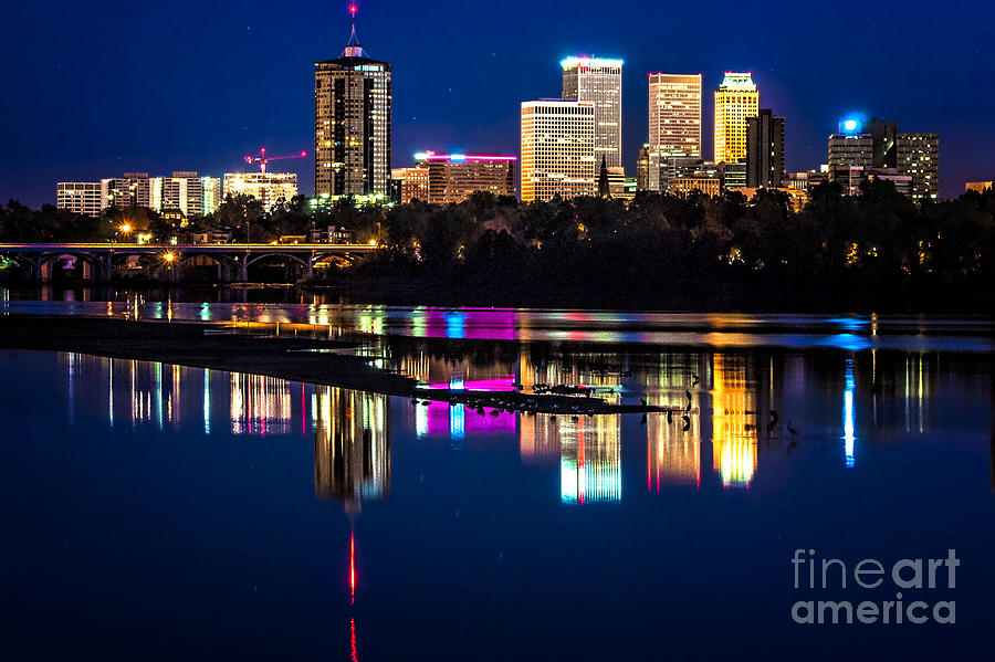 Tulsa Skyline At Twilight Photograph  - Tulsa Skyline At Twilight Fine Art Print