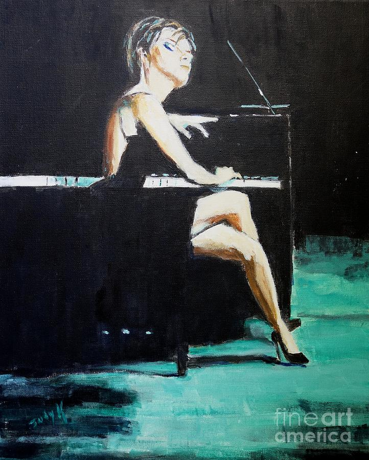 Music Painting - Tuning Out by Judy Kay