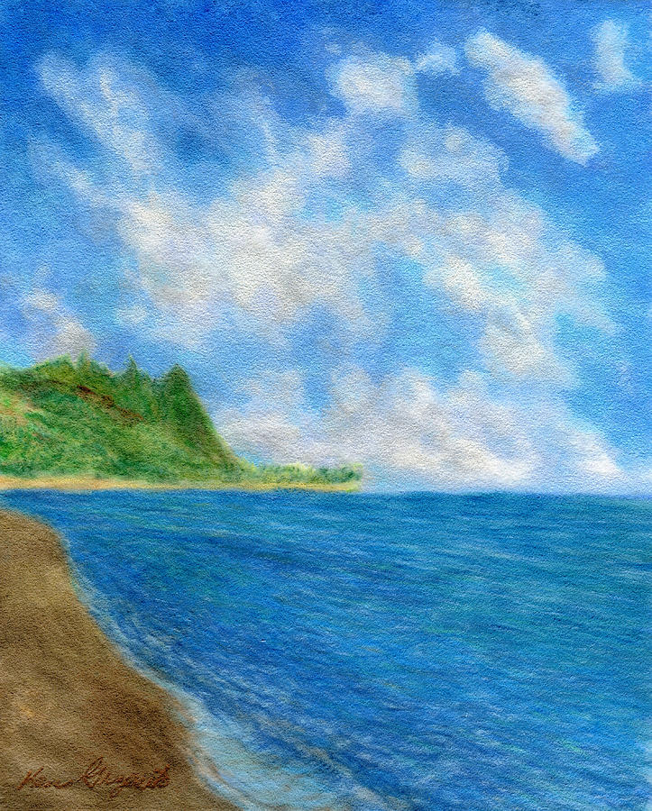 Tunnels Beach Sky Painting