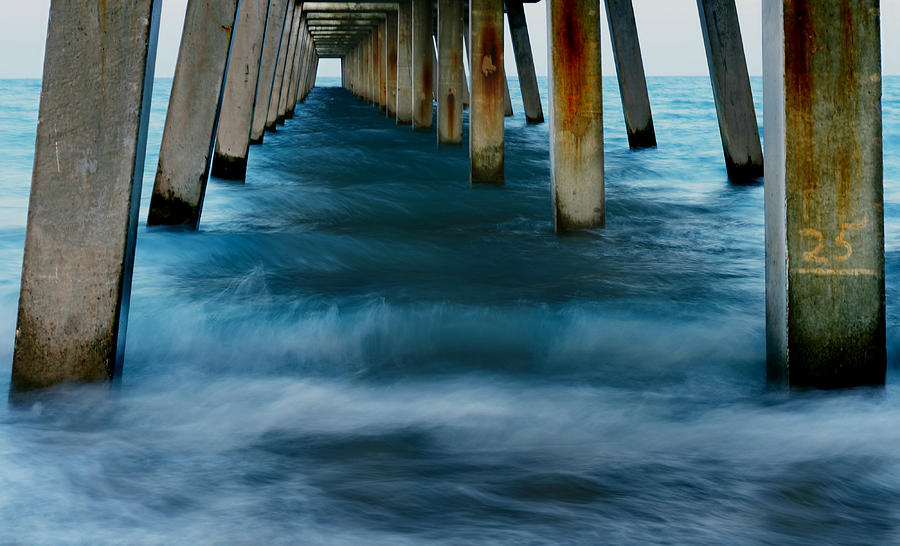 Pier Photograph - Turbulence by Laura Fasulo