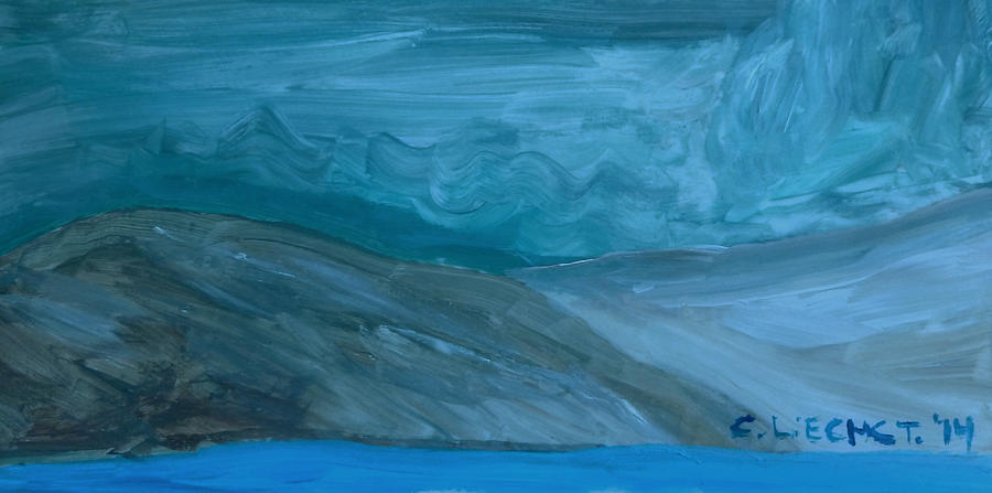 Turbulent Skies And A Glacier  Painting